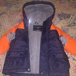 Oshkosh boys winter hooded coat